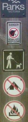 park warning sign