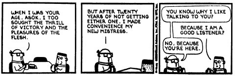 Scan from Dilbert day-at-a-time calendar, 22/11